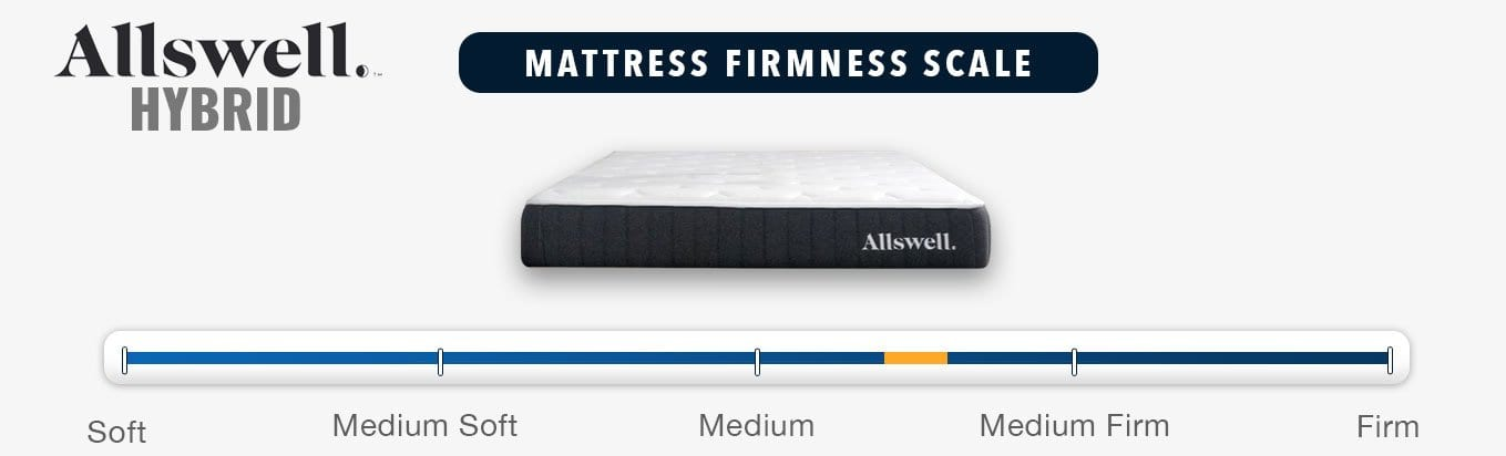 allswell hybrid mattress review firmness