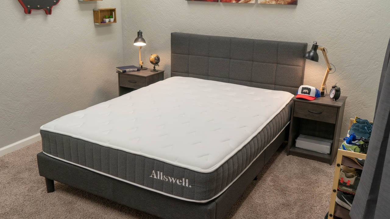 allswell mattress review hybrid bed for heavy people