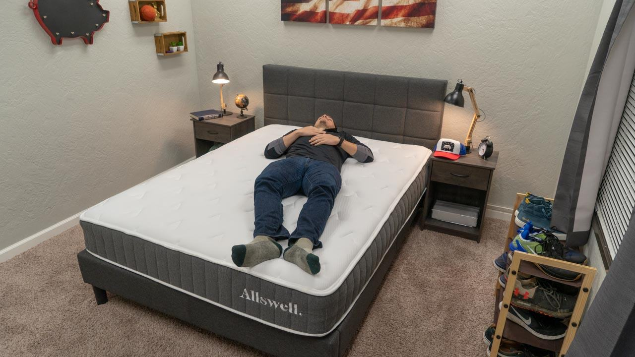 allswell hybrid mattress review back sleeper