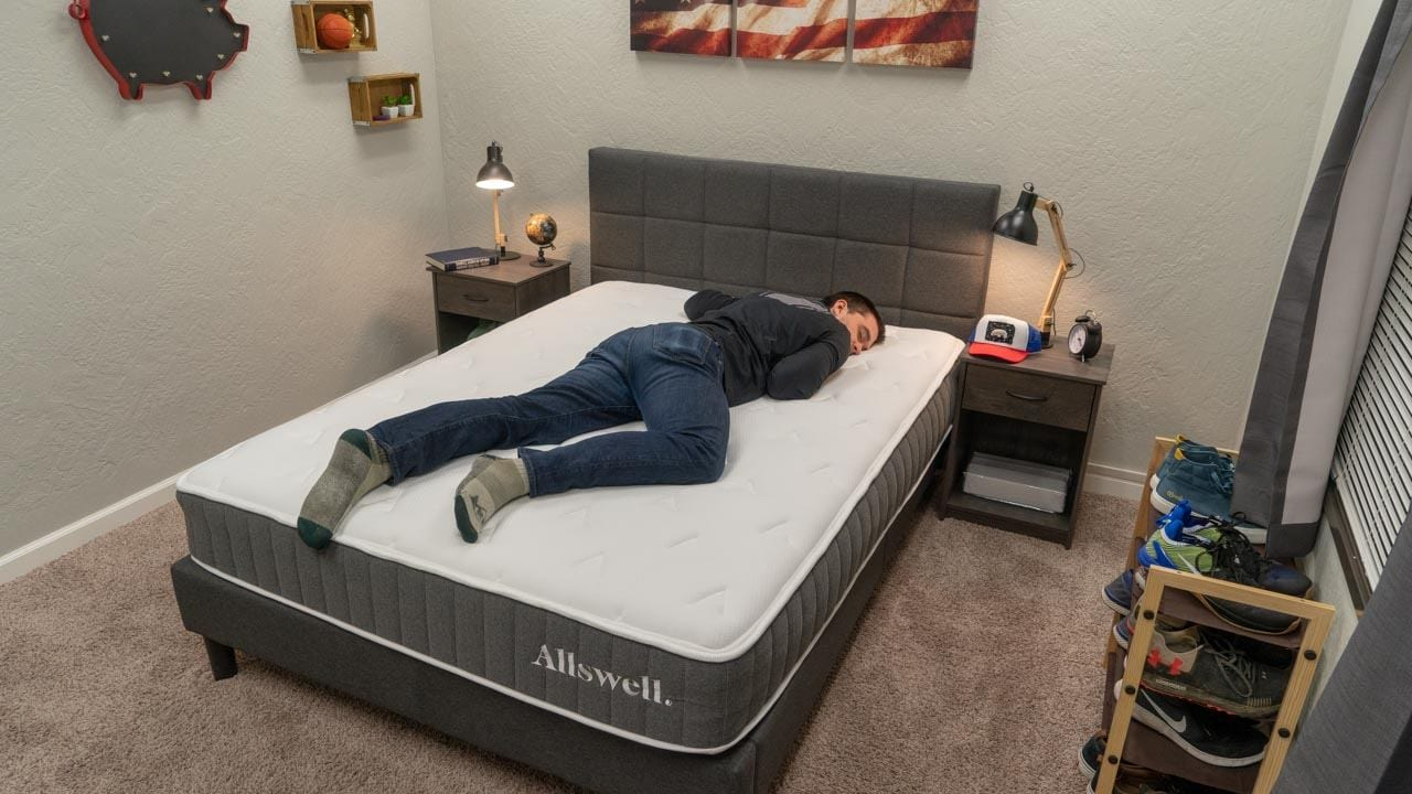 allswell hybrid mattress review stomach sleeper