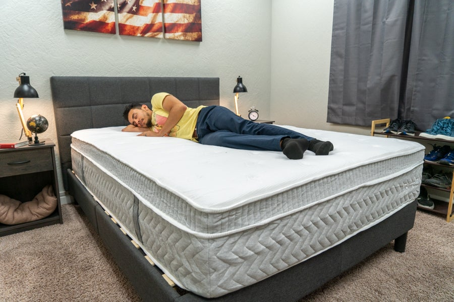 Allswell Supreme mattress review side sleeper example