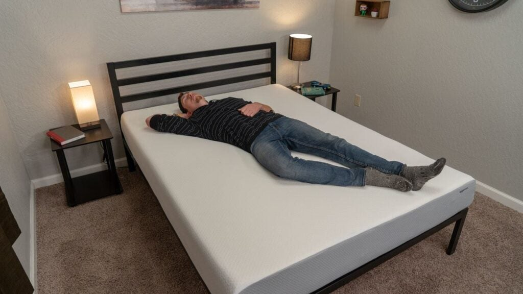 amazonbasics mattress review back sleeper