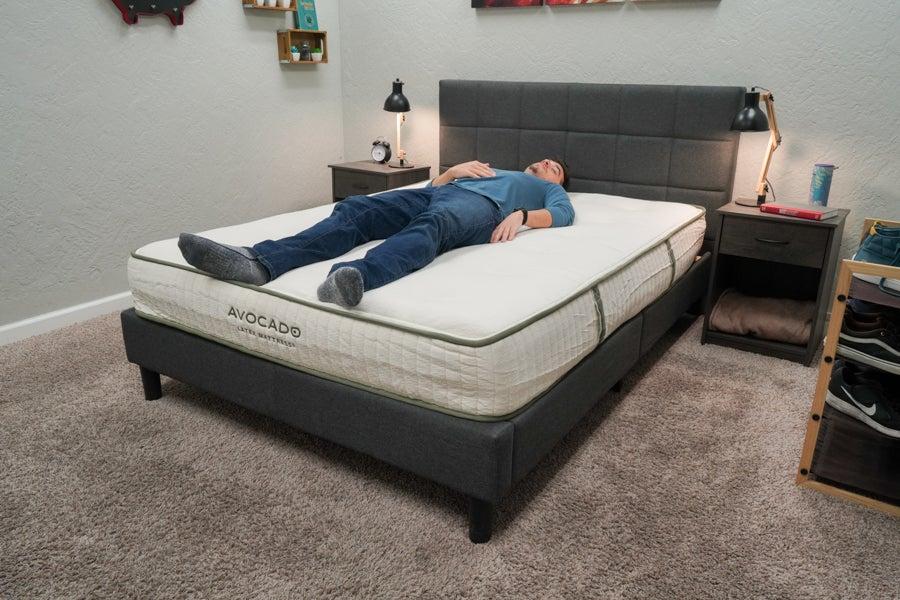 Avocado Latex Mattress Review Back Sleeper Example