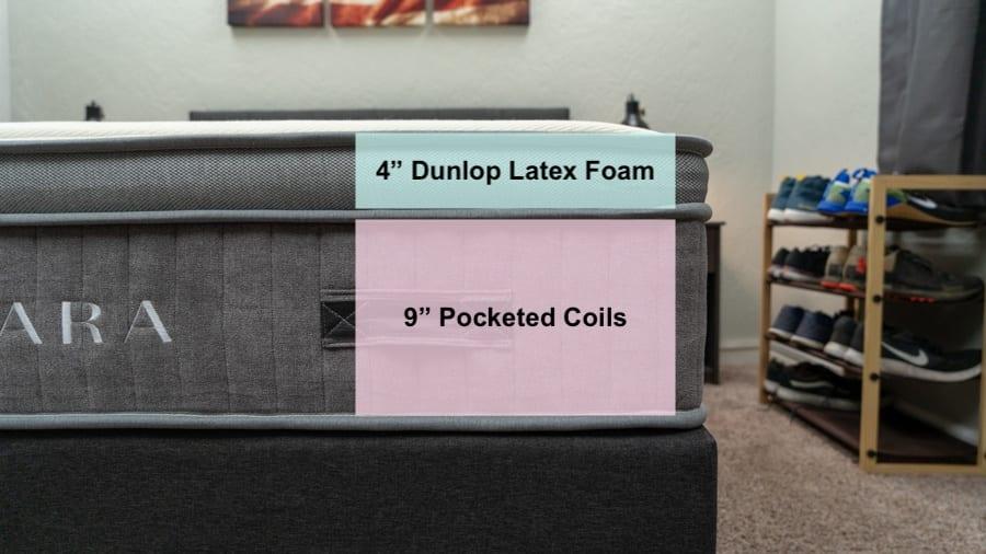 awara mattress reviews construction and latex foam