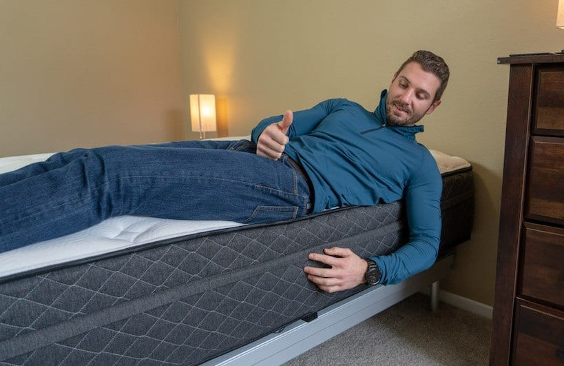 bear hybrid mattress review edge support
