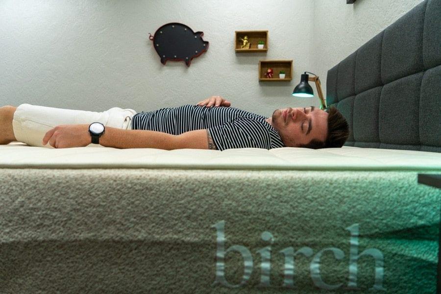 birch mattress review back sleper