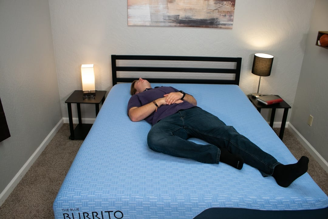 blue burrito mattress review back sleepers