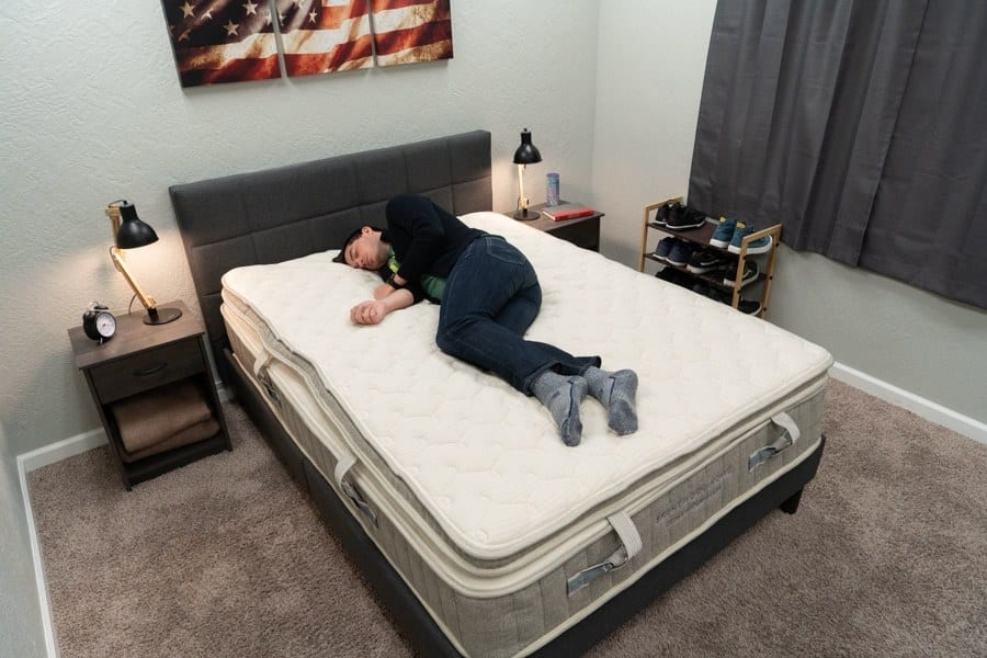 brentwood home cedar mattress review side sleeper