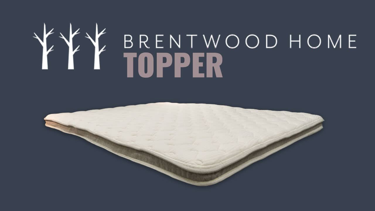 Brentwood Home Natural Latex Mattress Topper Review
