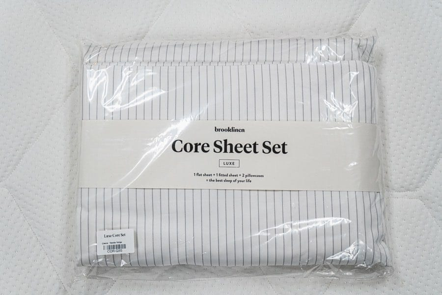 brooklinen reviews luxe core sheets
