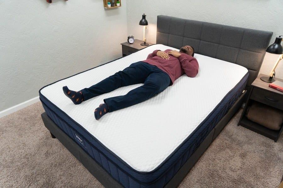 Brooklyn Bedding Aurora Eurotop Mattress Back Sleeper