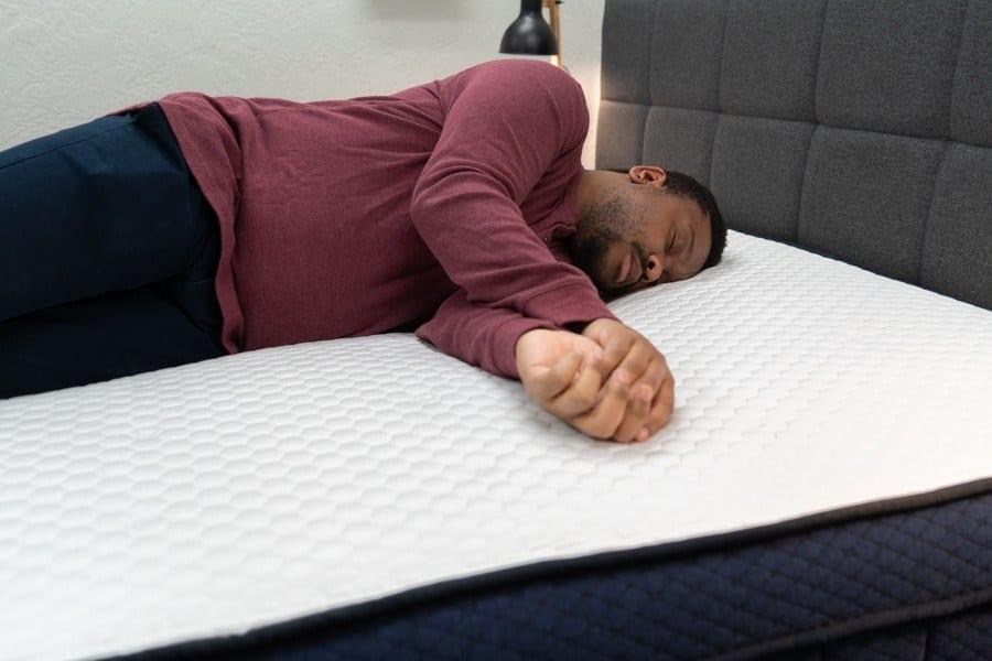 Brooklyn Bedding Aurora Eurotop Mattress Side Sleeper Example