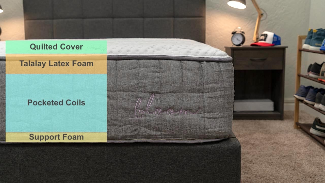 bloom hybrid mattress review from booklyn bedding mattress company latex mattress