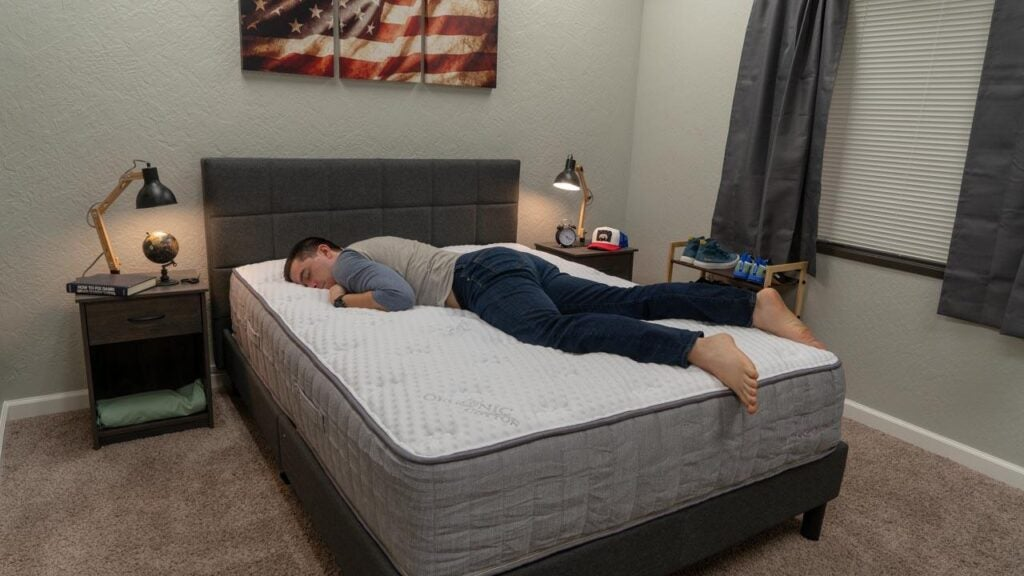 bloom hybrid mattress review stomach sleeper