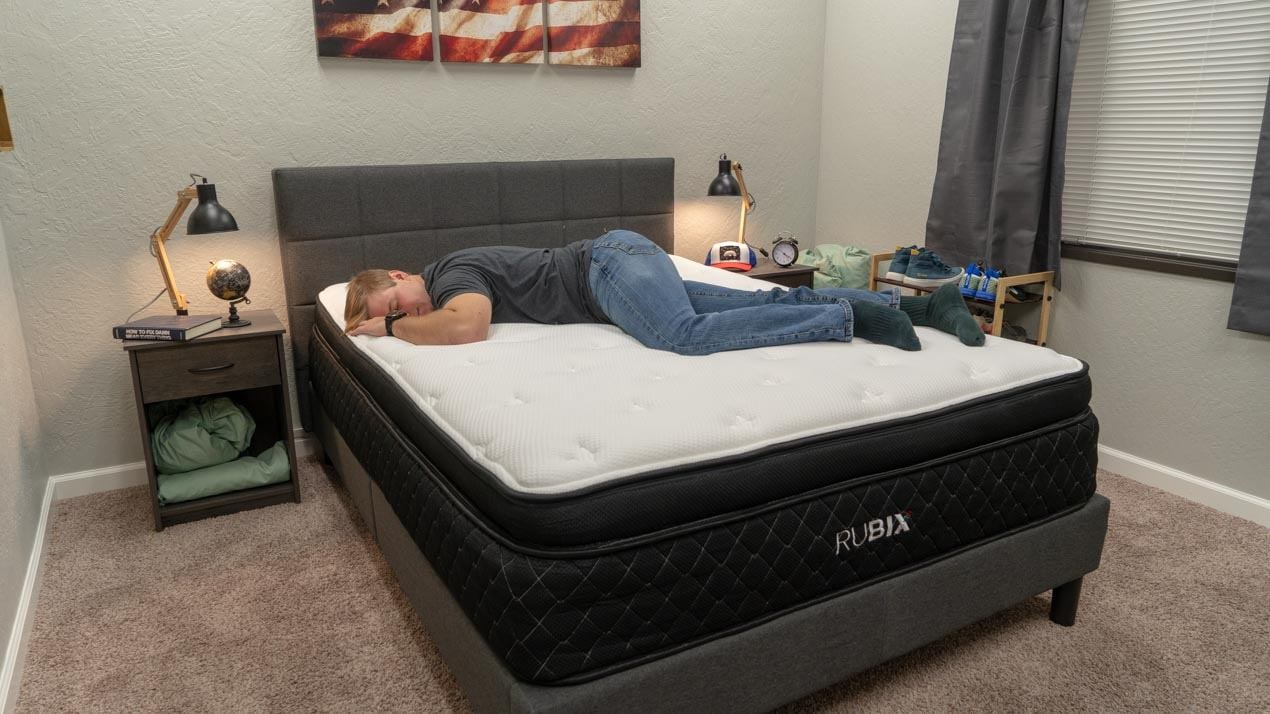brooklyn bedding rubix mattress review stomach sleeper