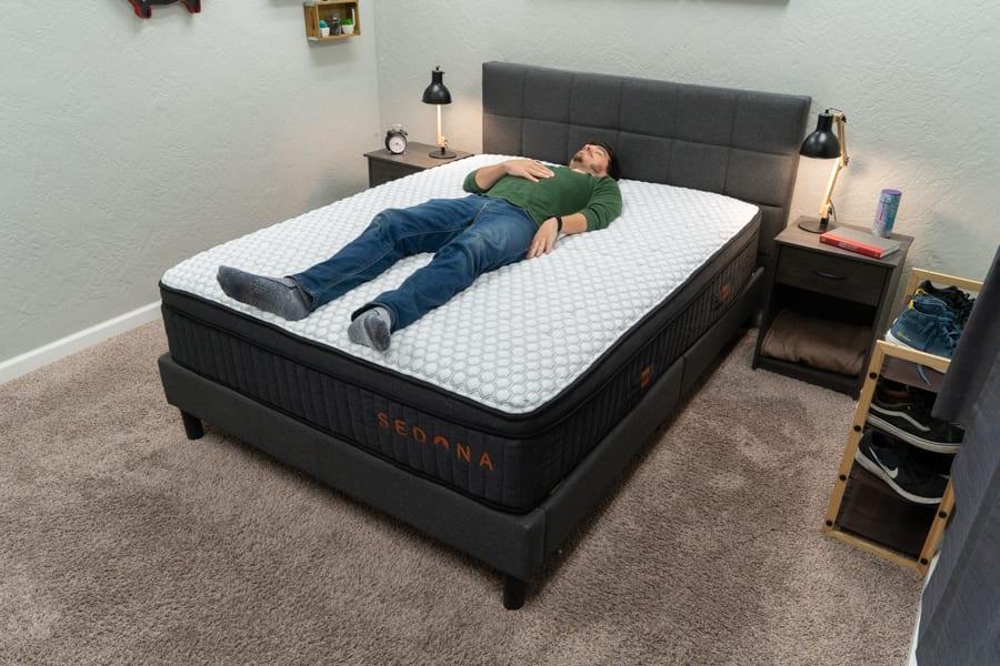 Brooklyn Bedding Sedona Hybrid Mattress Back Sleeper Review
