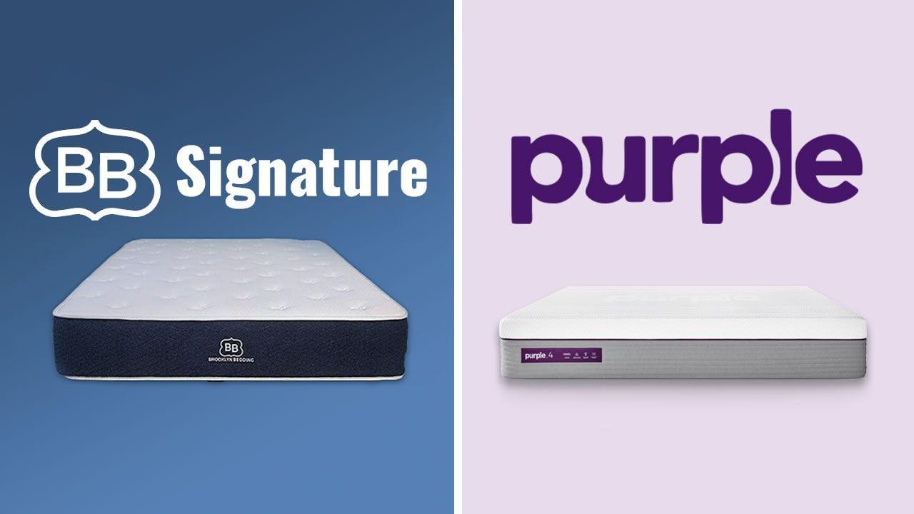 brooklyn bedding signature vs purple mattress review
