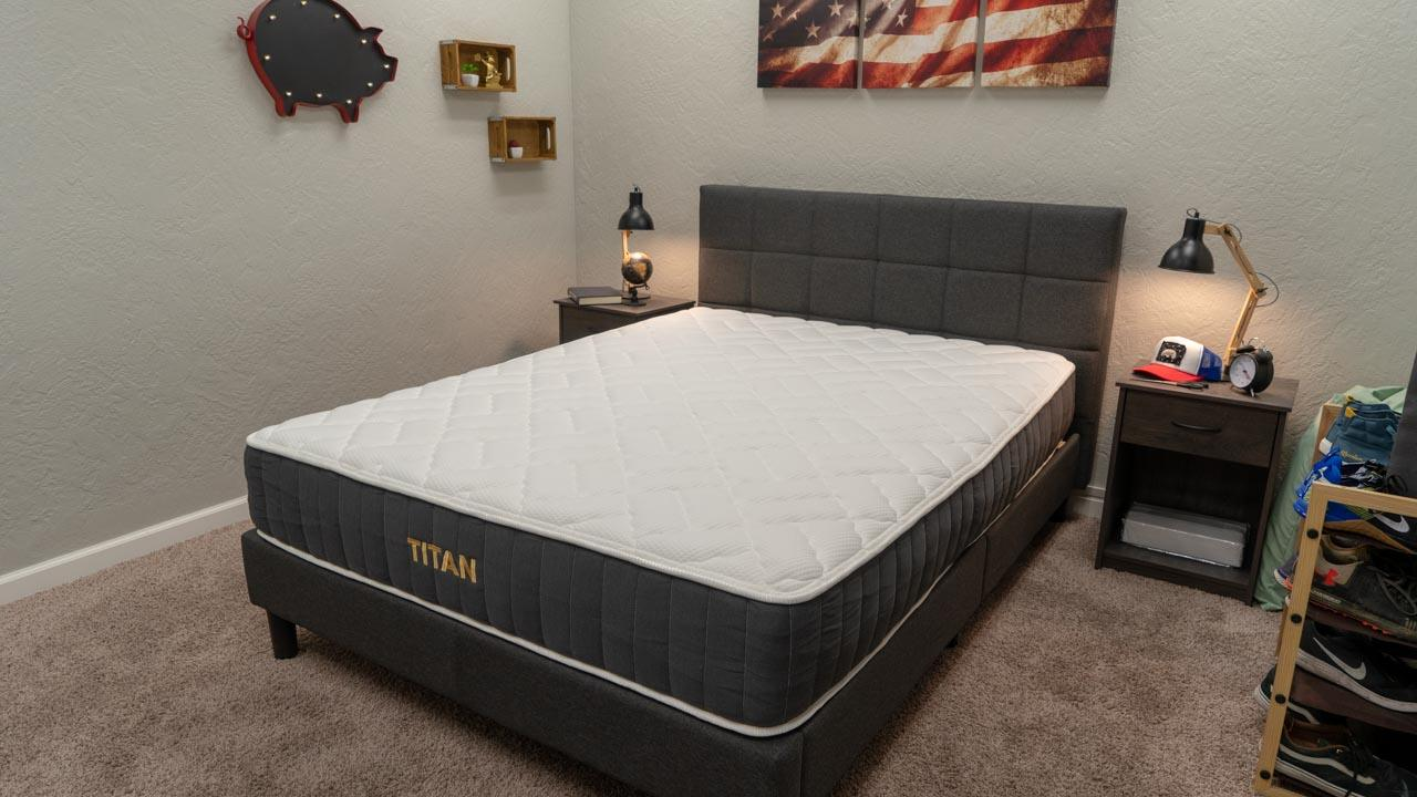 titan mattress review from brooklyn bedding for heavy and obese people
