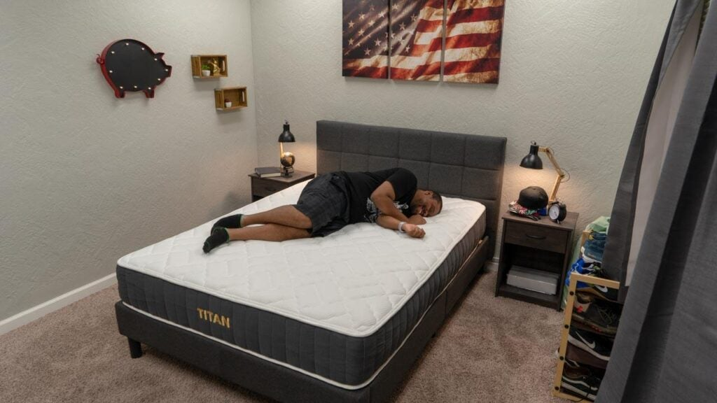 brooklyn bedding titan mattress side sleeper