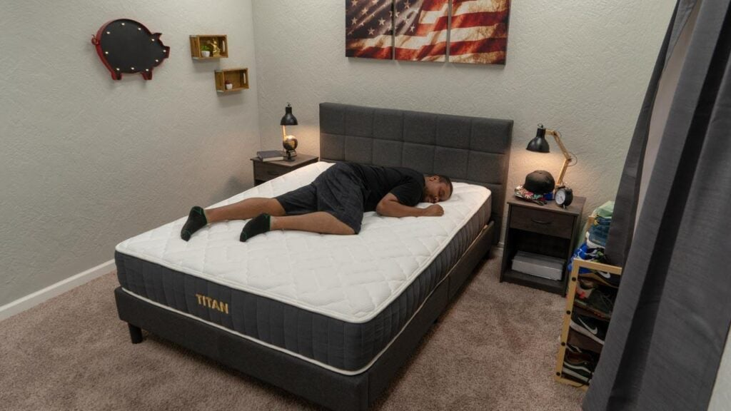 brooklyn bedding titan review stomach sleeper