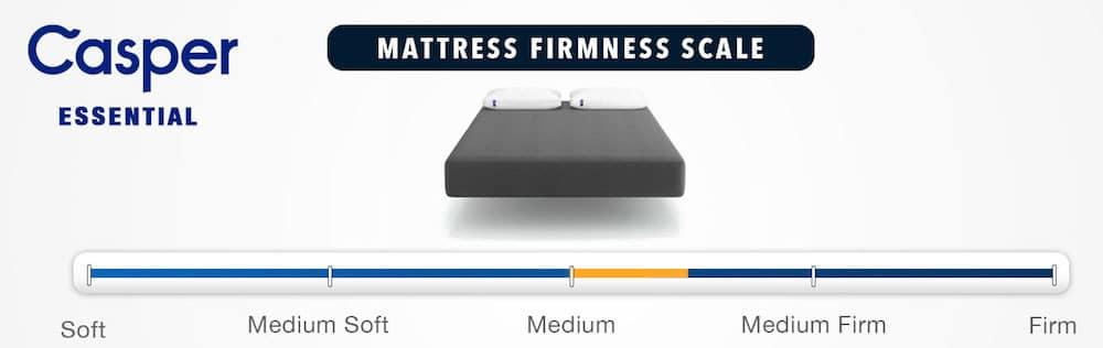 casper essential mattress review firmness rating