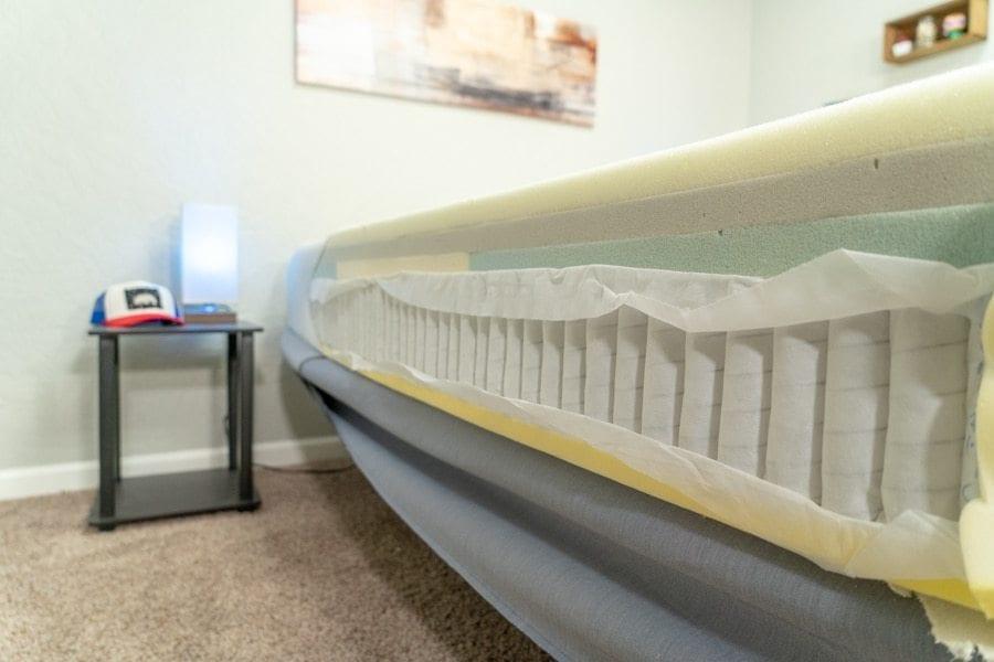 casper mattress review hybrid model with coils