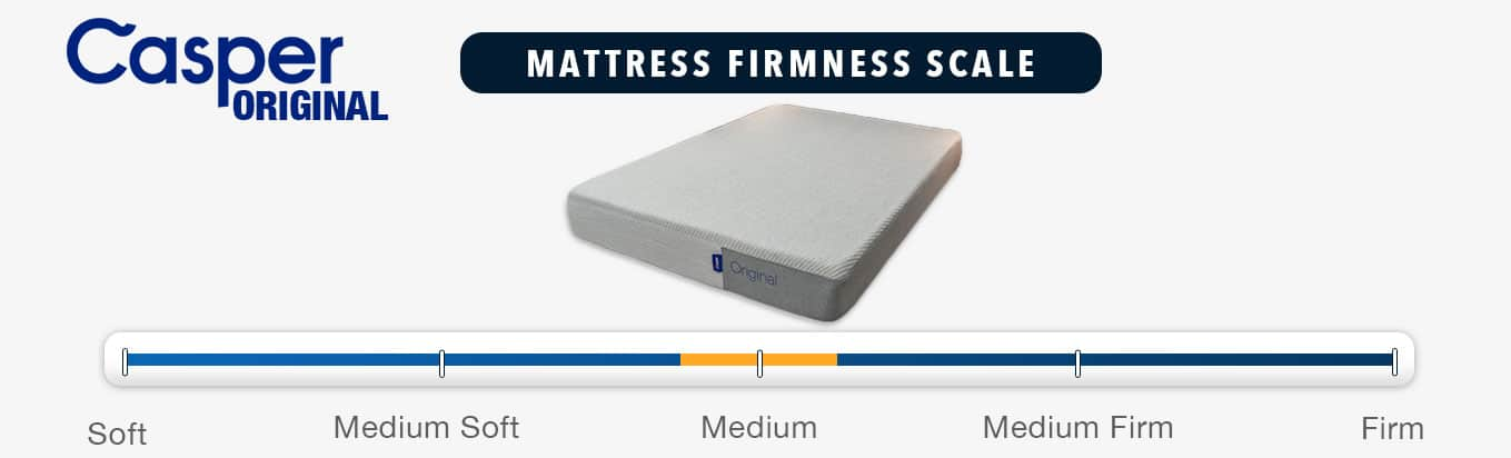 casper mattress review firmness rating