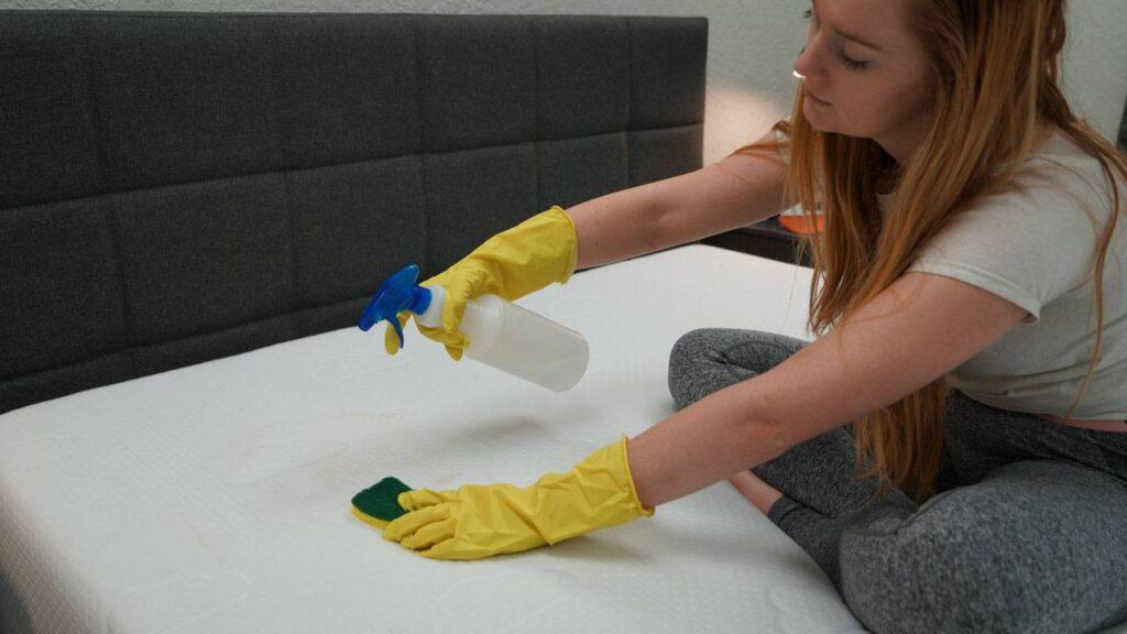 how to clean vomit mattress bed