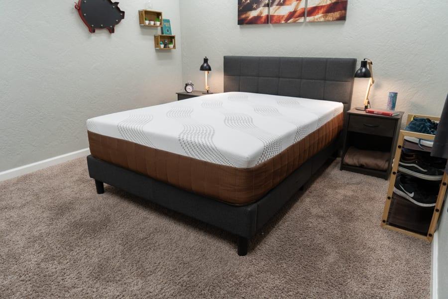DreamFoam Copper Dream Mattress Review Overhead