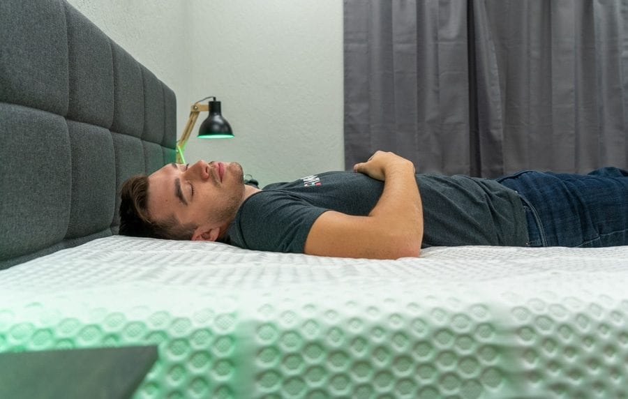 ghostbed 3d matrix mattress review back sleeper