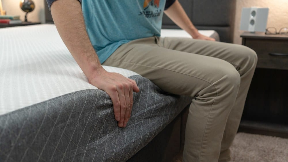 ghostbed mattress review edge support