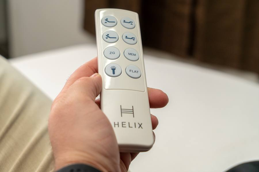 helix adjustable base remote review