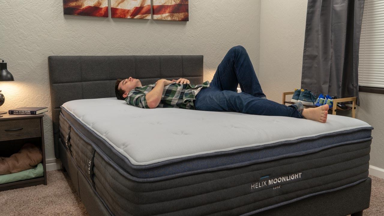 helix luxe moonlight mattress back sleeper