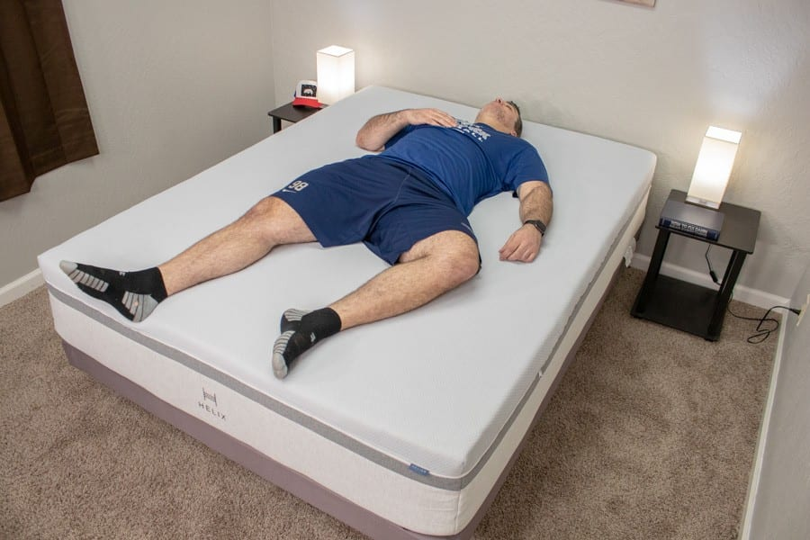 helix mattress review nightfall bed for heavy people and obese