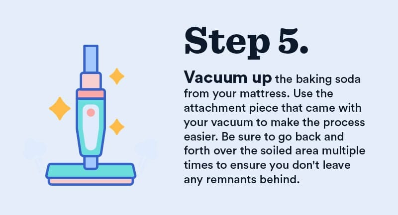 remove urine mattress step 5