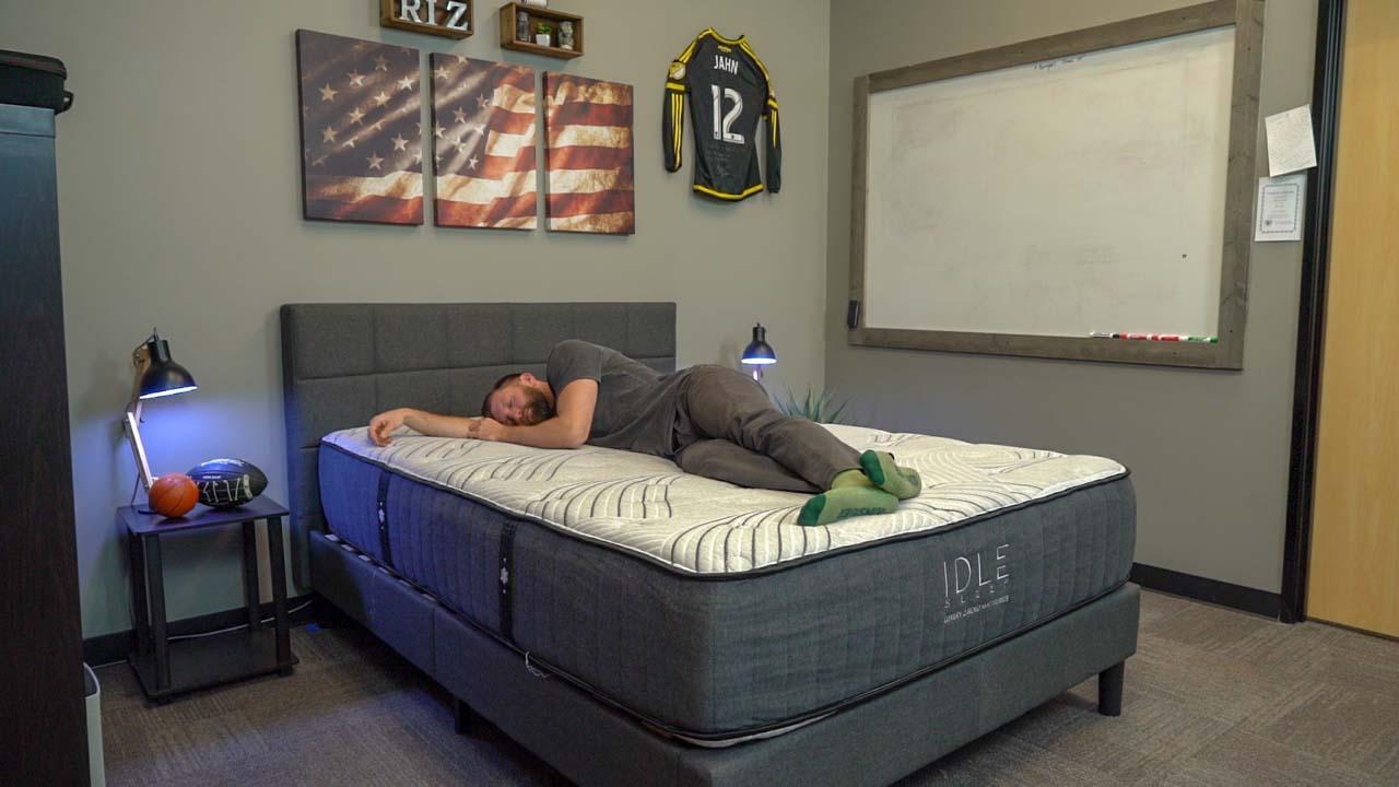 idle sleep hybrid mattress review side sleeper