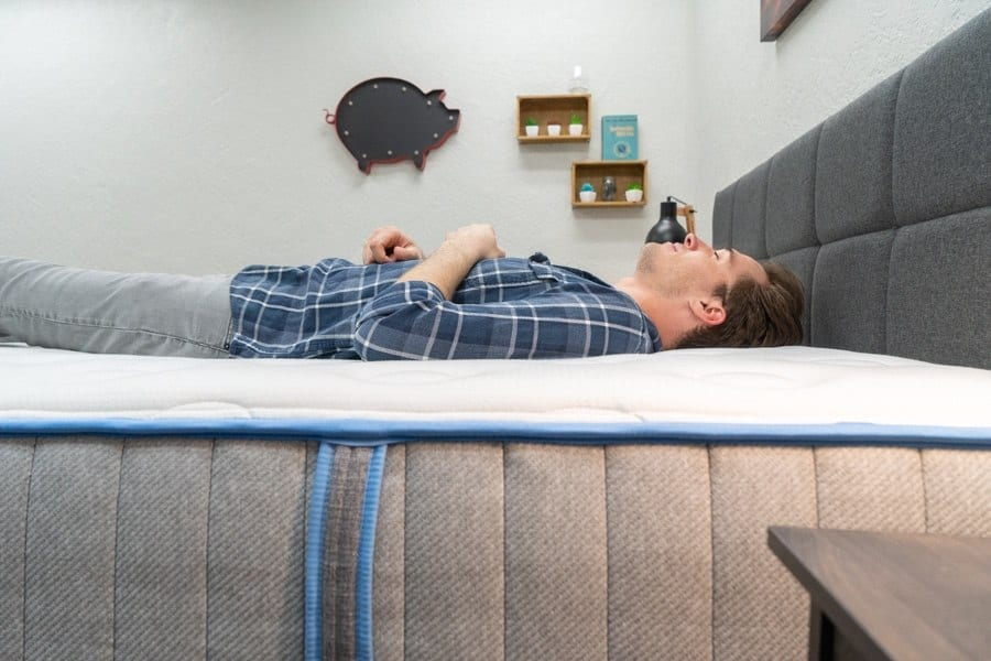 Idle Hybrid Mattress Review Back Sleeper