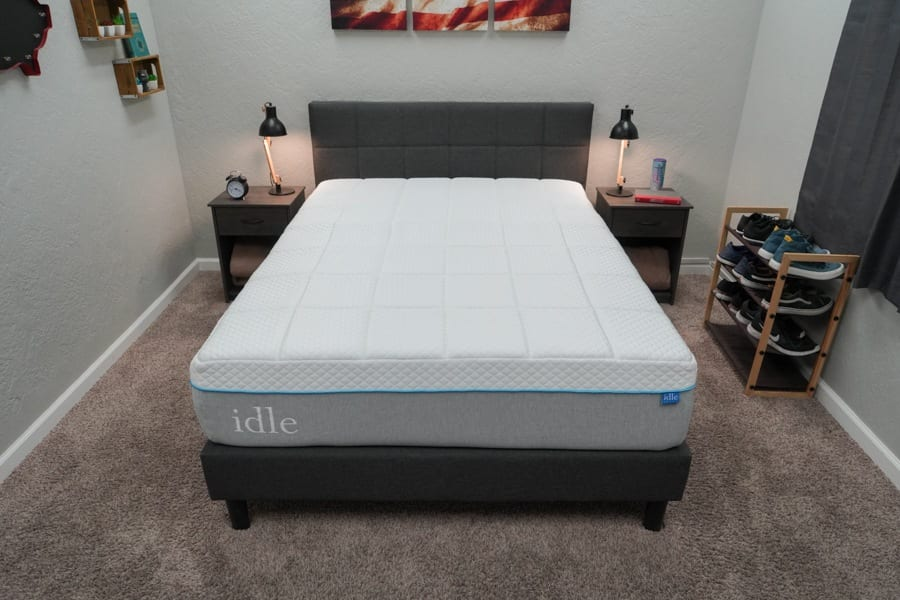 Idle Sleep Gel Plush Mattress Review overhead