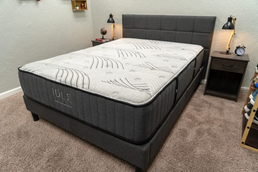 idle mattress review hybrid two sided flippable bed in a box for sleep