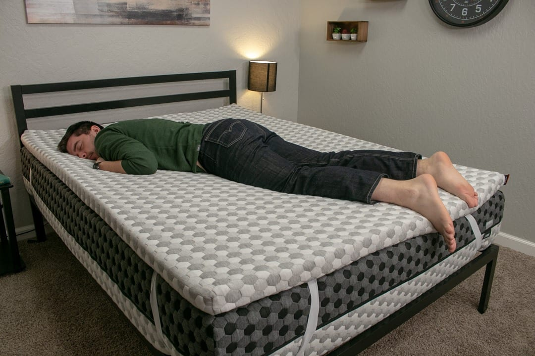 layla mattress topper review construction memory foam stomach sleeper