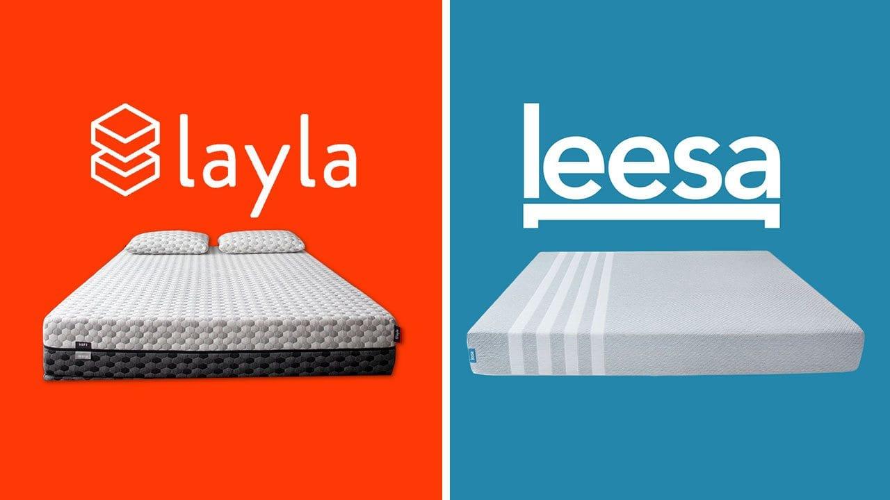 layla vs leesa mattress review comparison