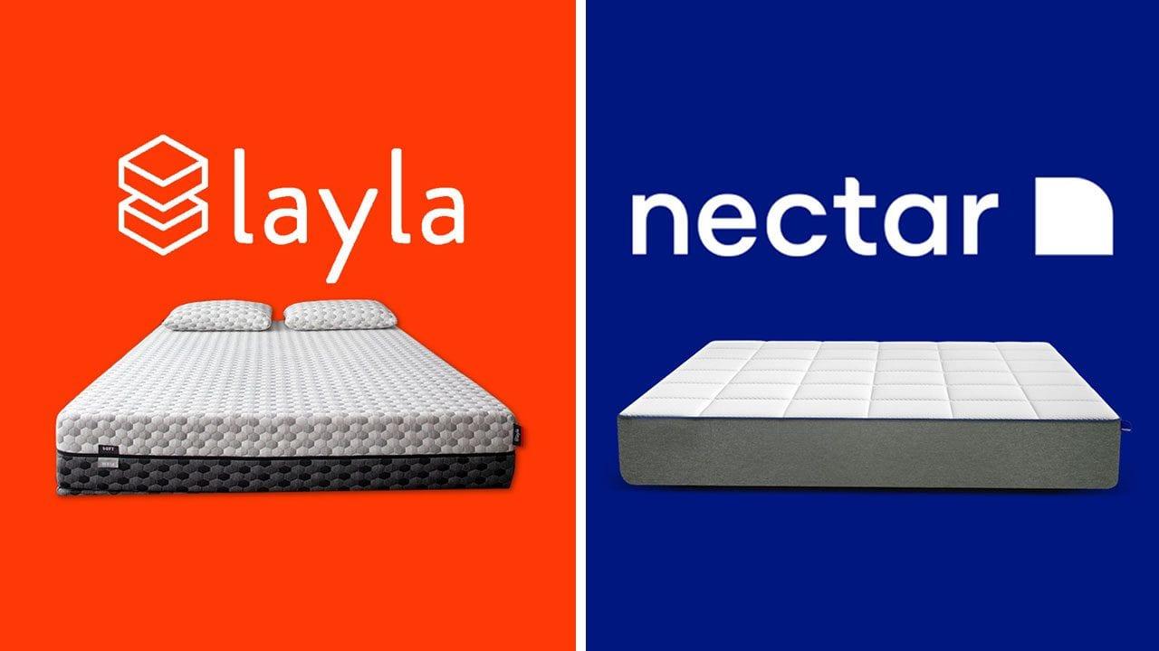 detailed look abcde b6445 Layla vs Nectar - Memory Foam Mattress Reviews (2019)