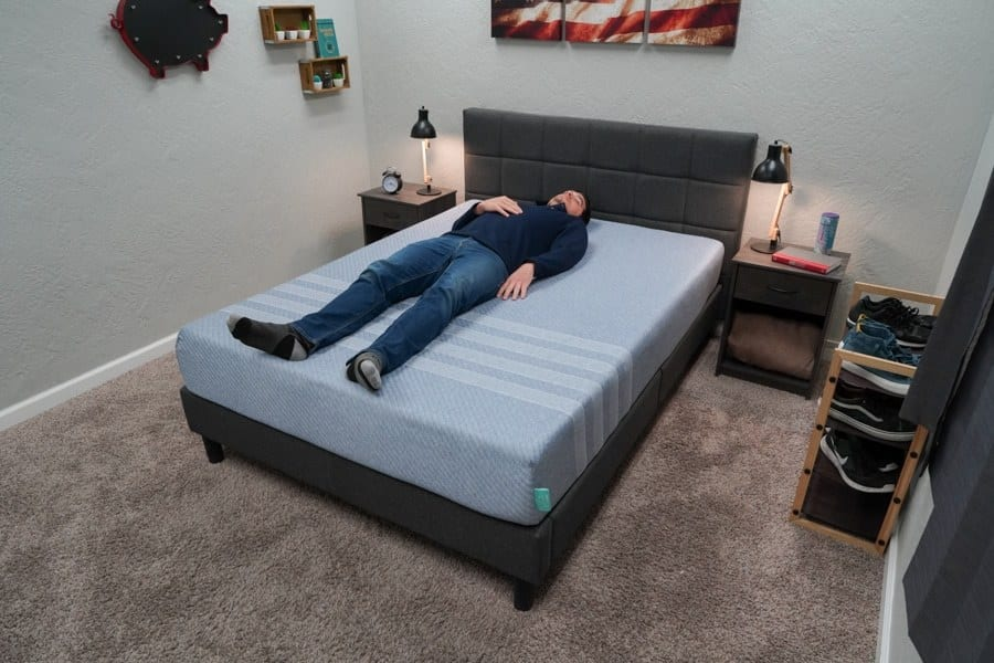 leesa studio mattress review back sleeper