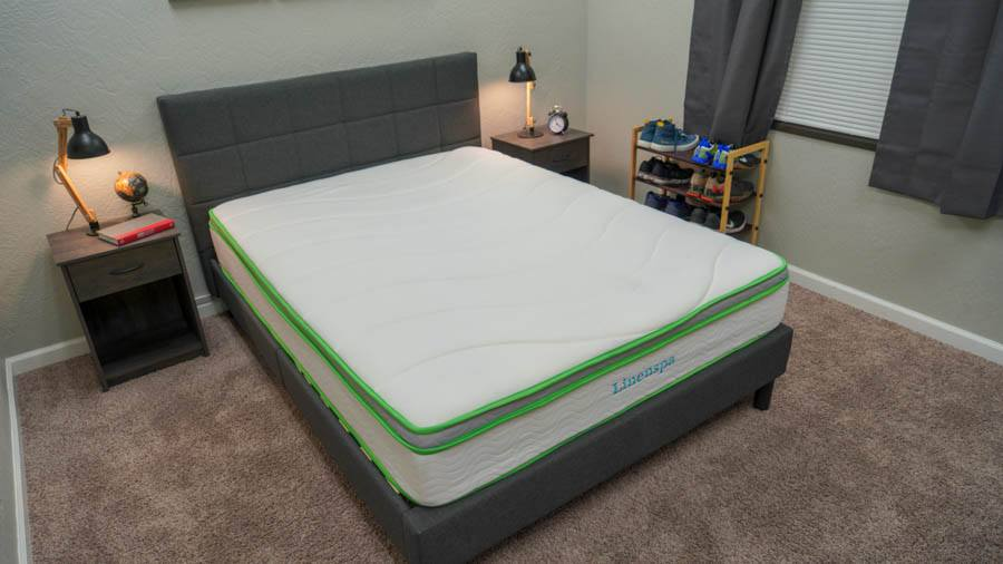 linenspa latex hybrid mattress review cover and feel