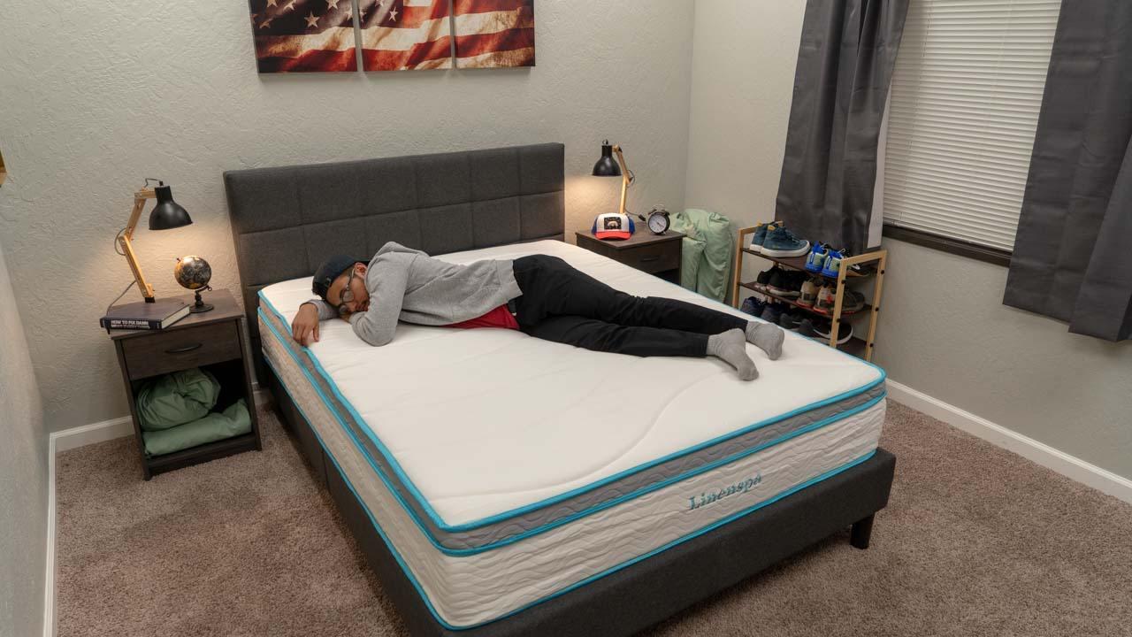 linenspa memory foam hybrid mattress review side sleeper