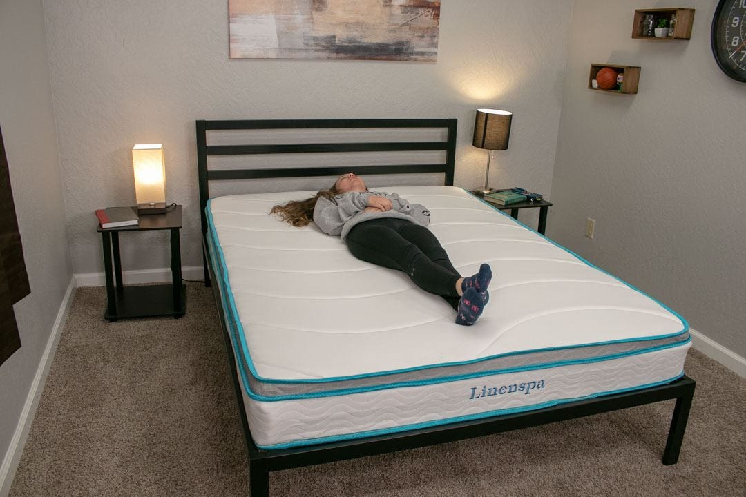 linenspa memory foam innerspring mattress review back sleepers and stomach sleepers