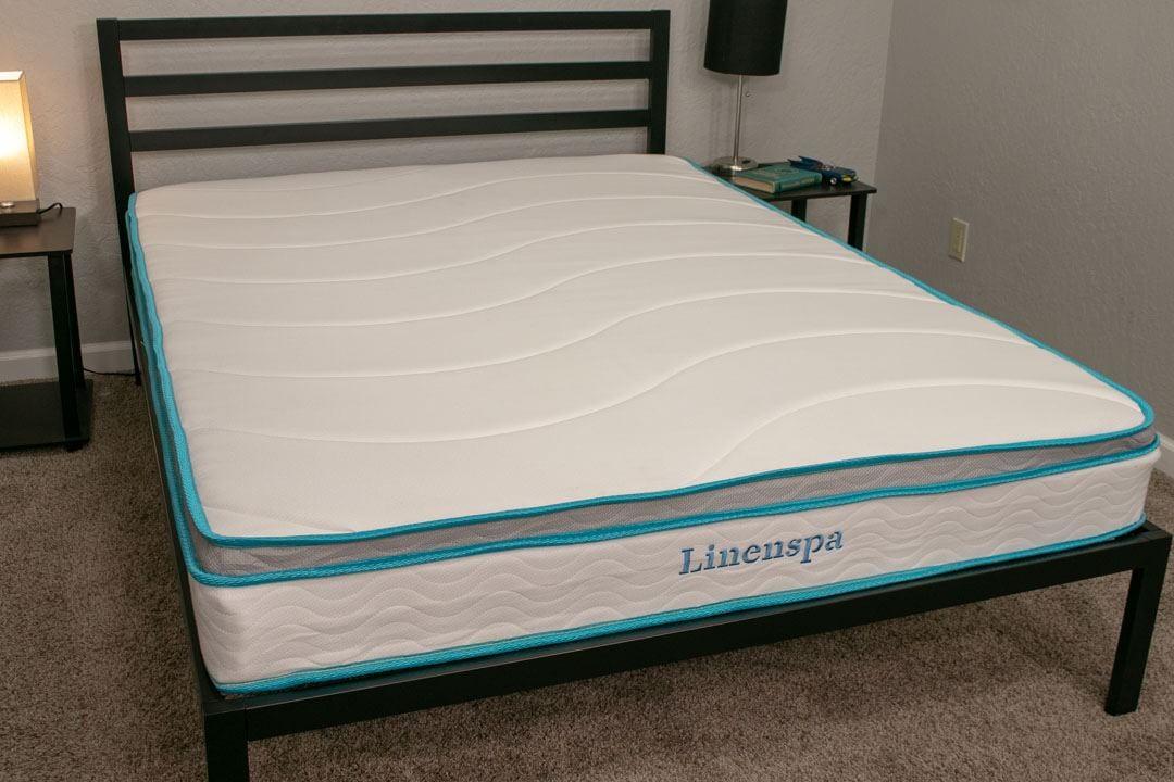 linenspa mattress review 8 inch memory foam innerspring cover