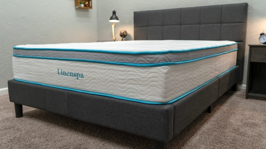 linenspa mattress review gel memory foam hybrid