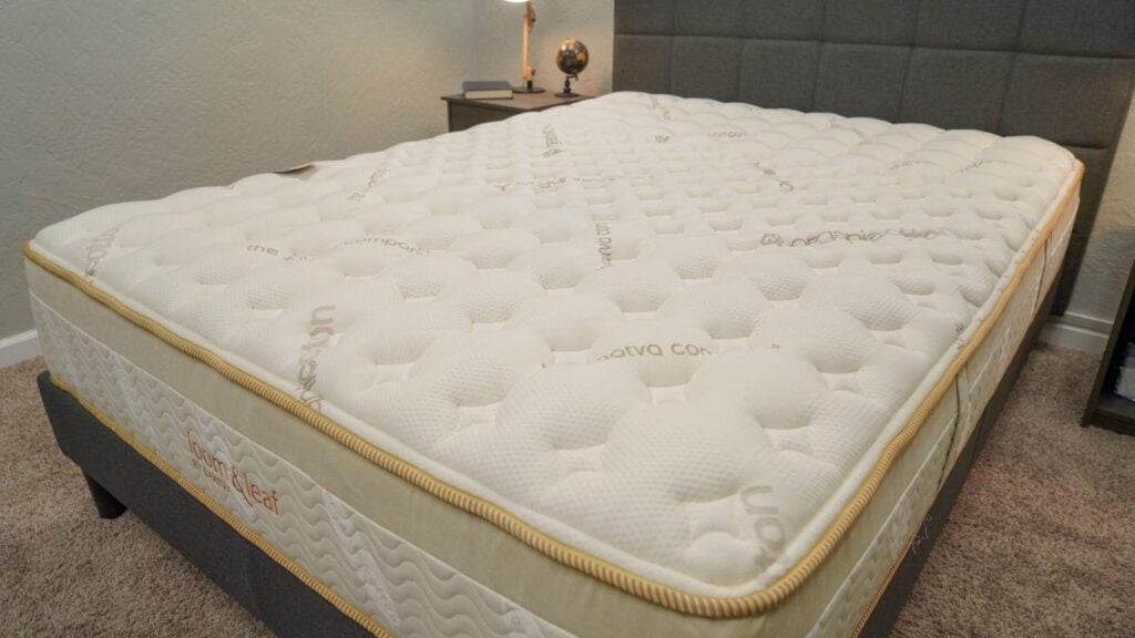 loom & leaf mattress review organic cotton cover