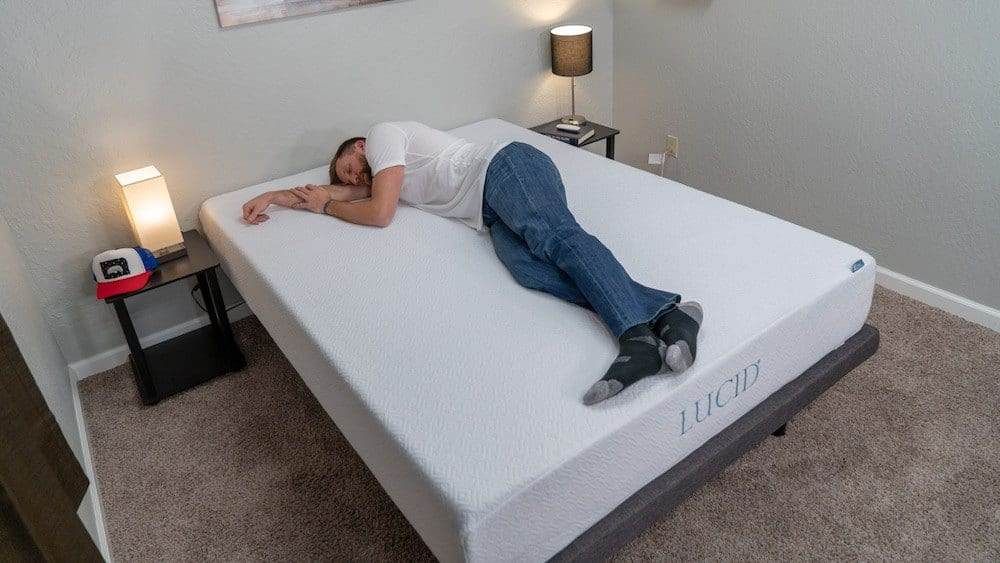 "lucid 10"" gel memory foam mattress review"